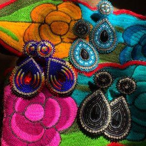 Women's Hand beaded earrings . $20 each